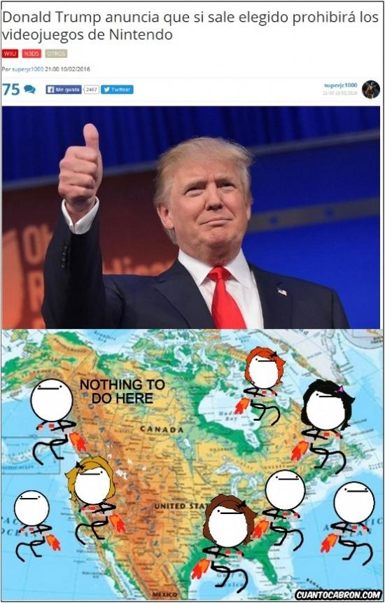 Nothing_to_do_here - Todo el mundo preparado para irse de Estados Unidos al escuchar decir esto a Donald Trump