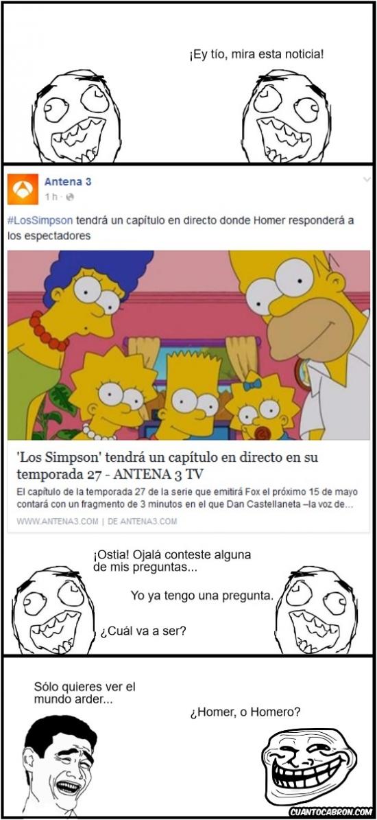 Trollface - Preguntas para Homer Simpson