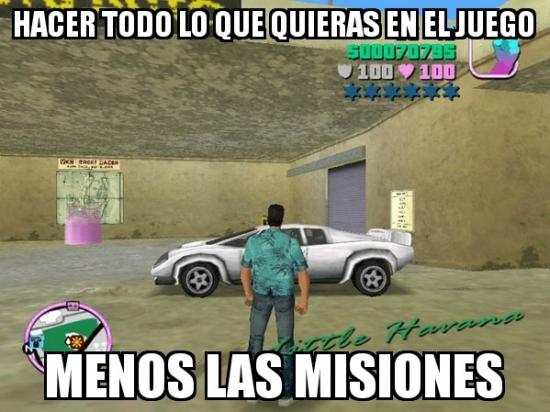 Meme_otros - Conducir todos los coches, destruir toda la ciudad, pero nunca hacer lo importante