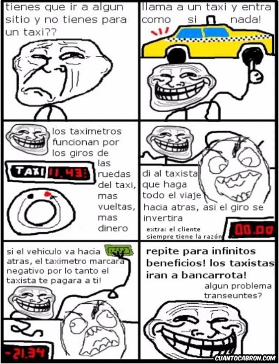 Trollface - Trolleo máximo a los taxistas