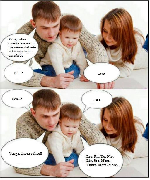 Computer_guy - Lo malo de enseñar a los bebés así...