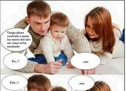 Enlace a Lo malo de enseñar a los bebés así...
