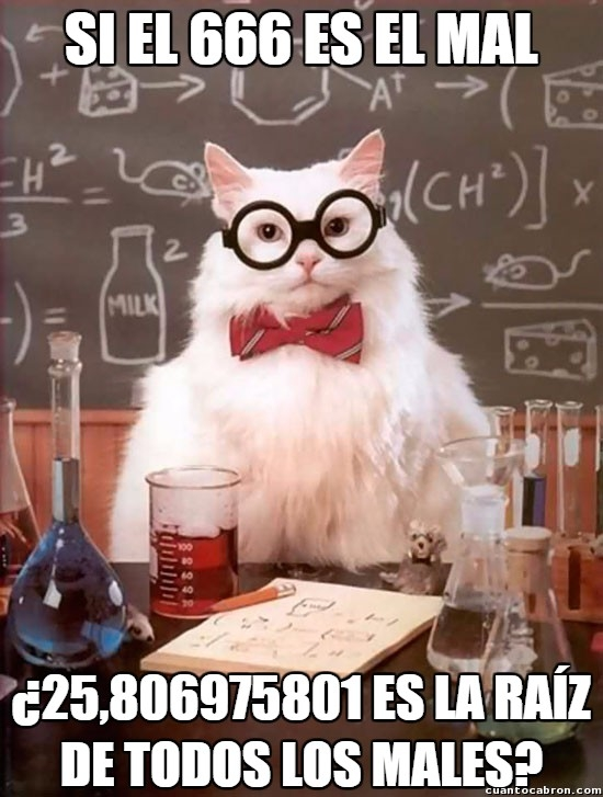 Gato_quimico - Calculando con el diablo