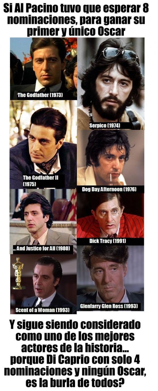 Al Pacino,El Padrino,Leonardo DiCaprio,Oscar,películas
