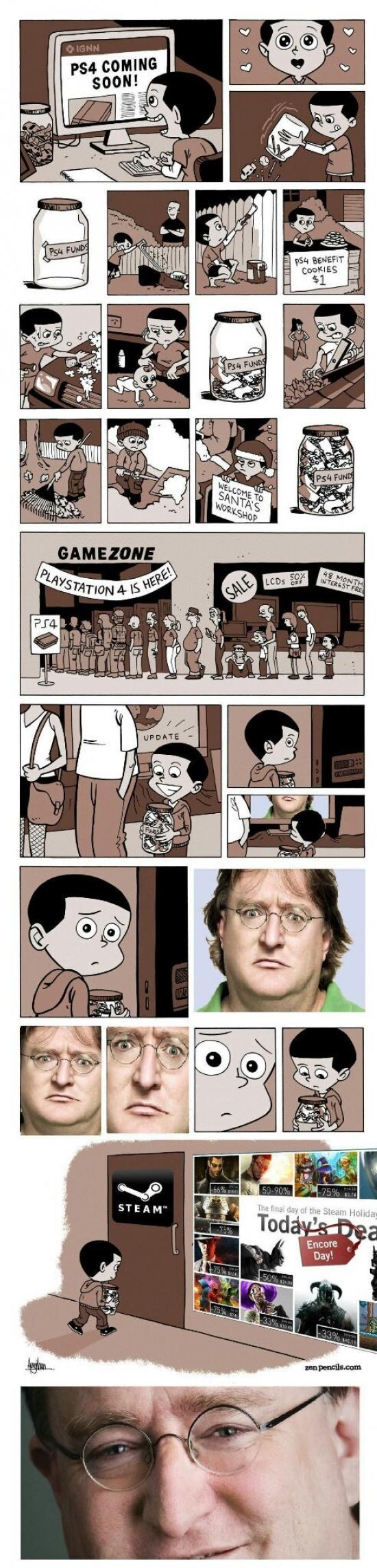 Otros - Gabe Newell siempre te convence como gastar tu dinero