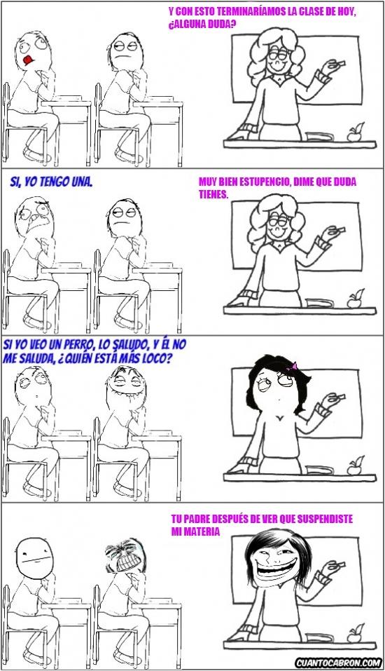 Trollface - Cuidado con las bromas que les haces a ciertas profesoras, pueden resultar bastantes trolls