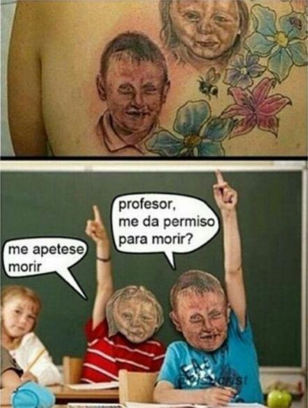 Otros - Piensa mucho antes de hacerte un tatuaje de tus hijos... te puede quedar algo así