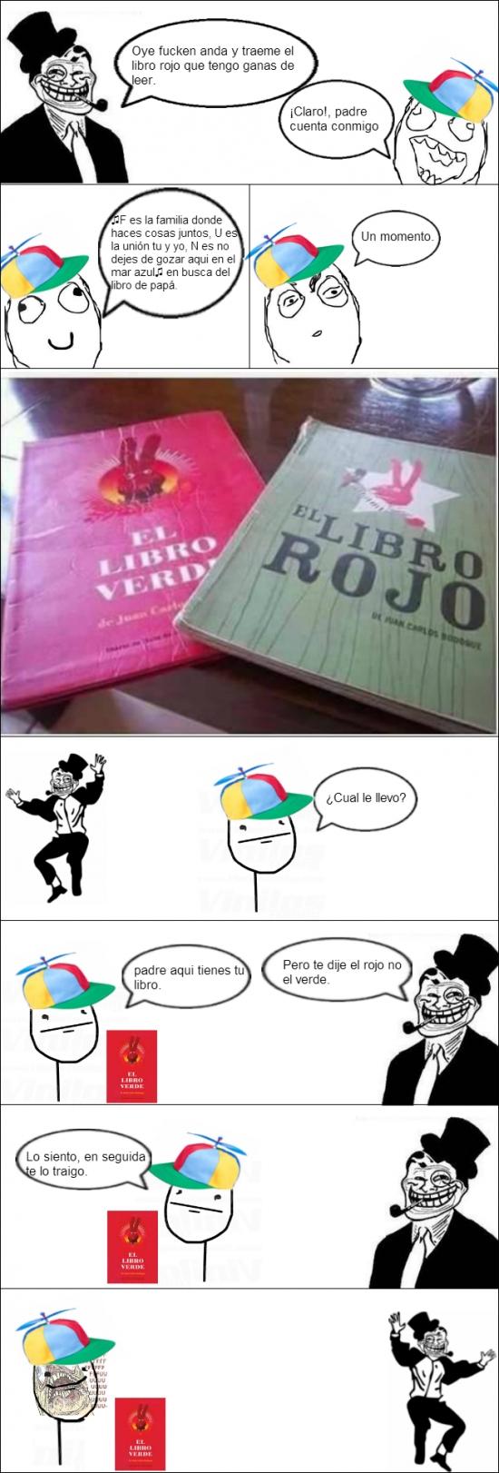 Trolldad - Cuando te piden que le traigas el libro rojo...