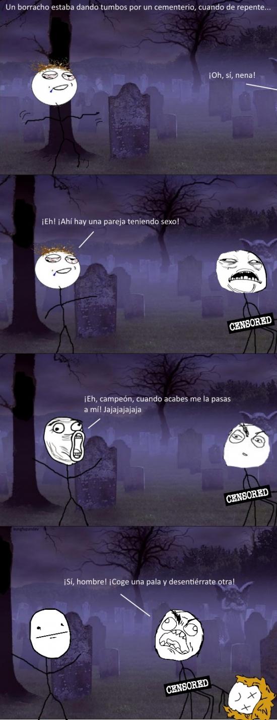 Pokerface - No es agradable pasear por un cementerio a esas horas