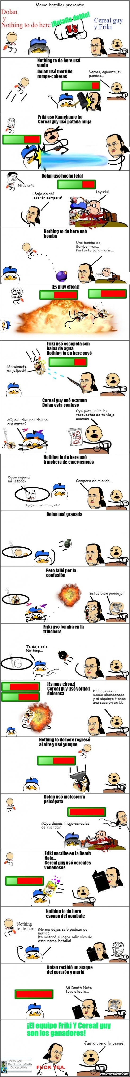 Otros - Meme batallas presenta: Nothing to Do Here y Dolan VS Cereal Guy y Friki