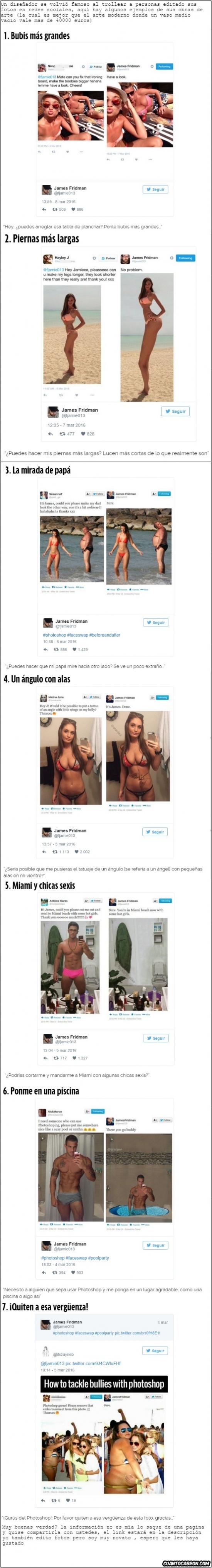 Trollface - Diseñador troll con fotos de gente