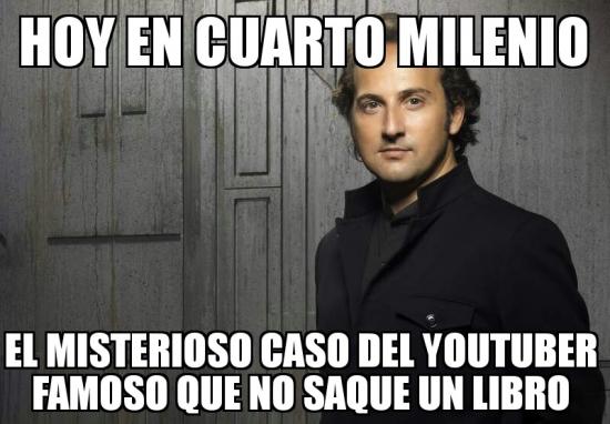 Cuarto_milenio - No hacen más que sacar libros...
