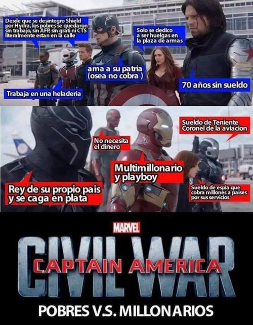 Otros - Captain America: Civil War, vista desde otra perspectiva