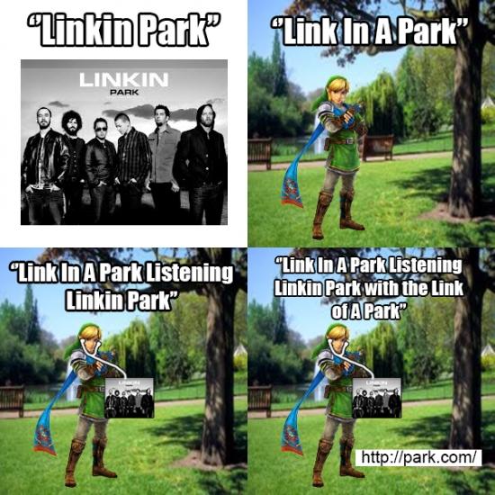 Meme_otros - Link in Park Confundido