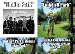 Enlace a Link in Park Confundido