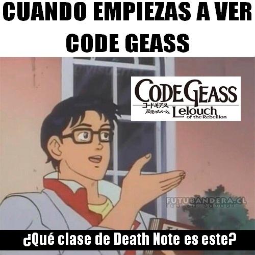 Otros - Code Geass viviendo bajo la sombra de Death Note