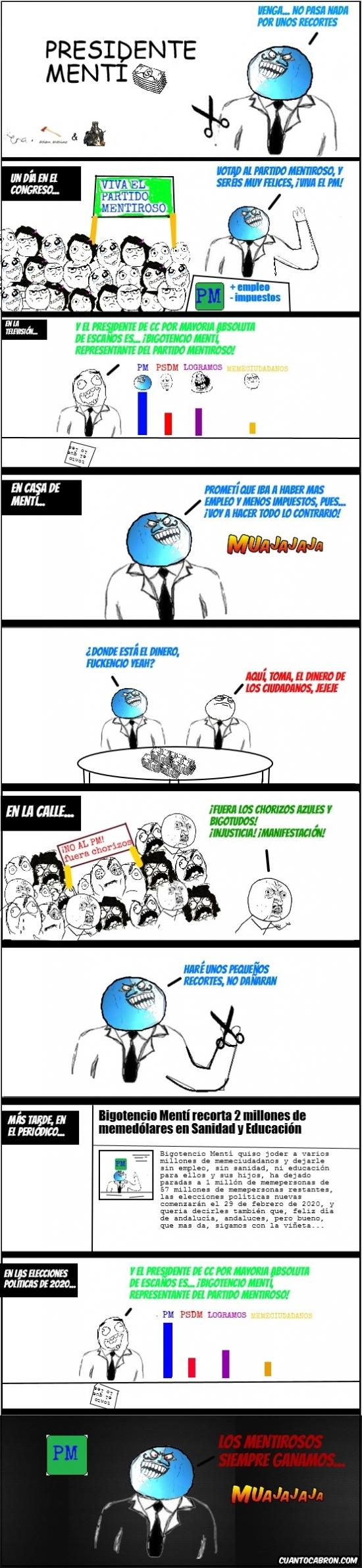 Menti - Presidente Mentí en el gobierno