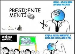 Enlace a Presidente Mentí en el gobierno