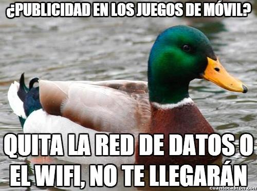 Pato_consejero - Una gran solución a la publicidad en móviles