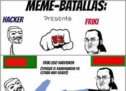 Enlace a Meme Batallas: Friki vs Hacker ¡Con final inesperado!
