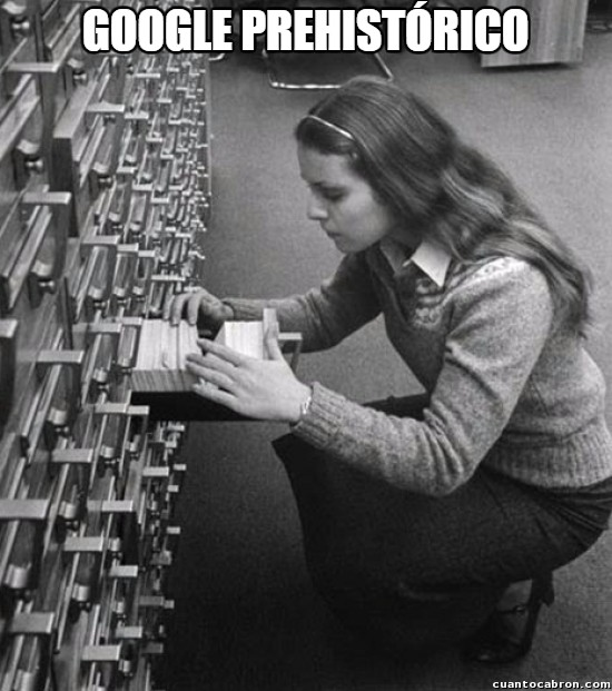 Meme_otros - ¡Y podías encontrar la ficha pero no el libro!