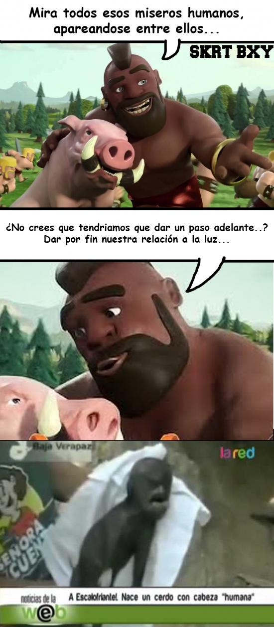 Lol - La aventura del humano con el cerdo