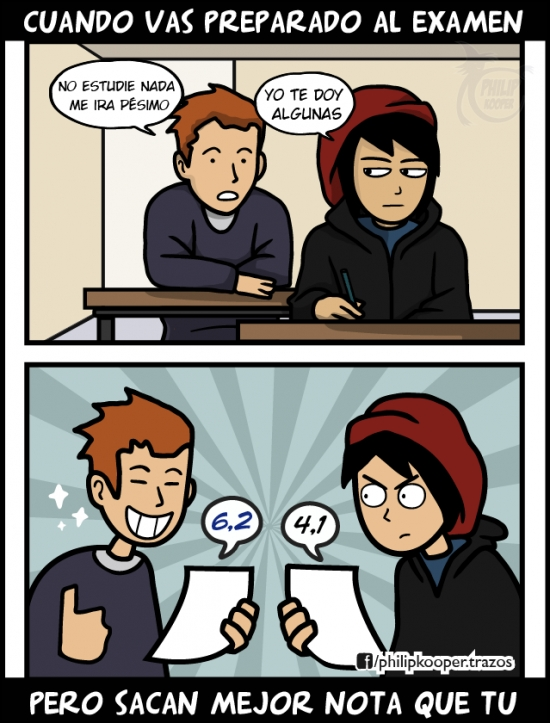 Kidding_me - La suerte que tienen algunos en los exámenes