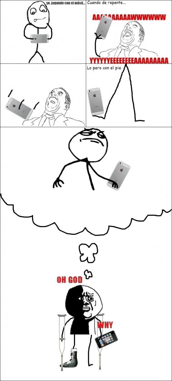 Oh_god_why - Cuando tienes muy mala suerte con el móvil...