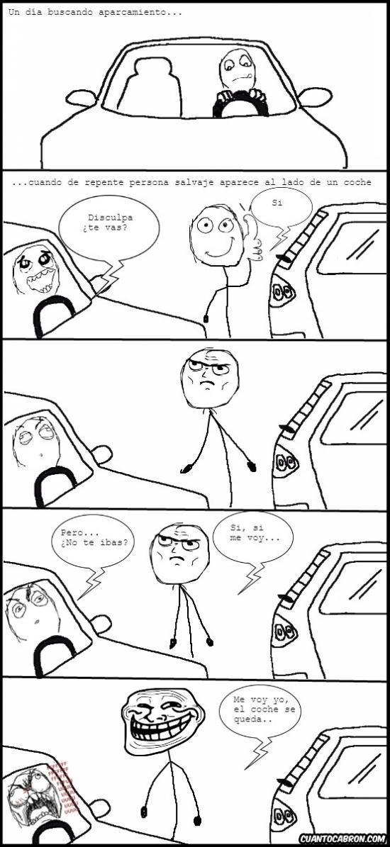 Trollface - Momento desesperante al aparcar