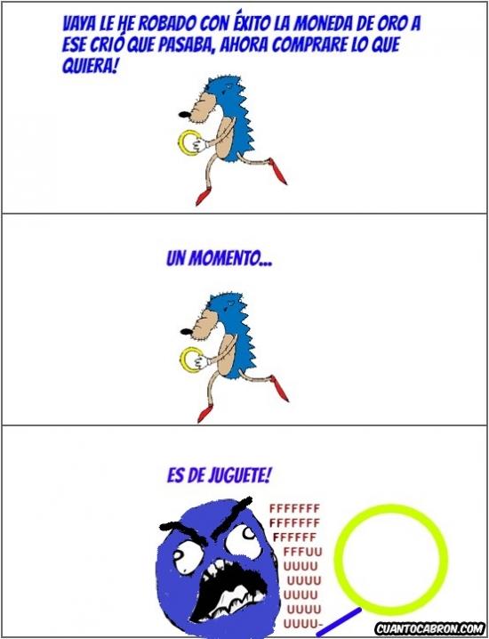 Sonic - ¡No te confíes de las cosas que le quites a cierta gente!