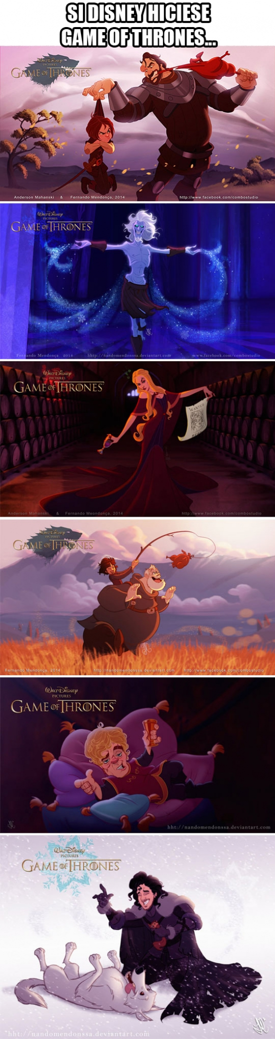 Meme_otros - ¿Tendría tantos fans Game of Thrones hecho por Disney?