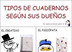 Enlace a Tipos de cuadernos según sus dueños