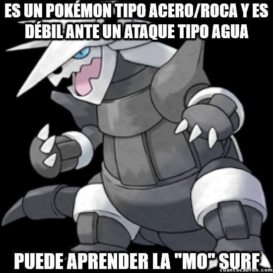 Meme_otros - Aggron y su lógica...