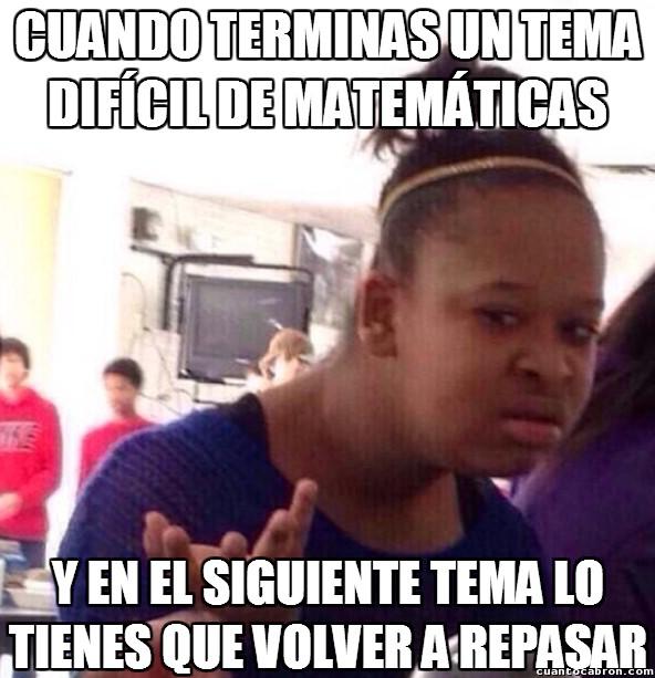 Confused_black_girl - Malditas matemáticas...