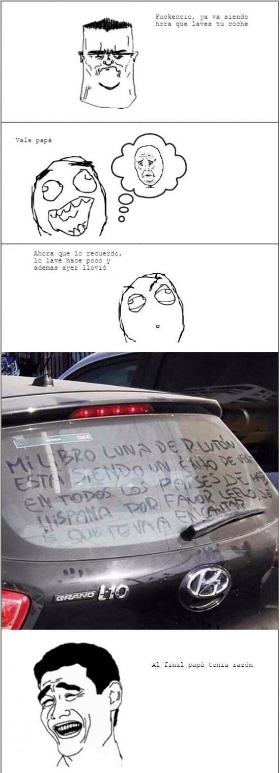 Yao - Mejor tenerlo limpio el coche...