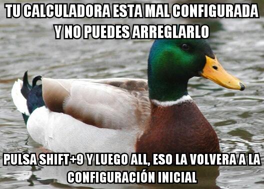 Pato_consejero - Así se arregla la calculadora científica