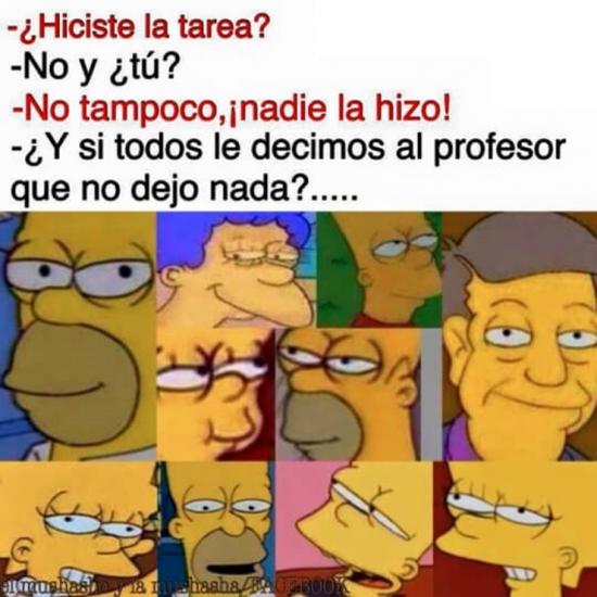 Curso,De acuerdo,Los simpson,Plan,Profesor,Tarea