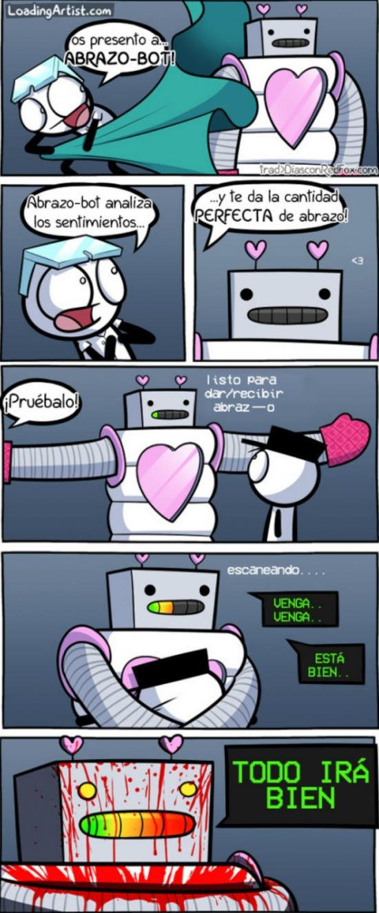 Otros - ¡Cuidado con los abrazos de los robots!