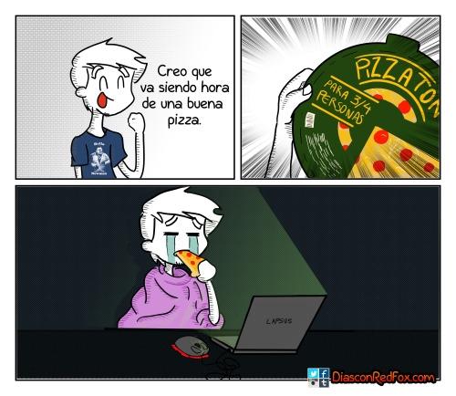 Otros - Lo peor de estar tu solo con una pizza