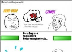 Enlace a Batalla de meme-tontos más esperada: Herp derp vs Genius