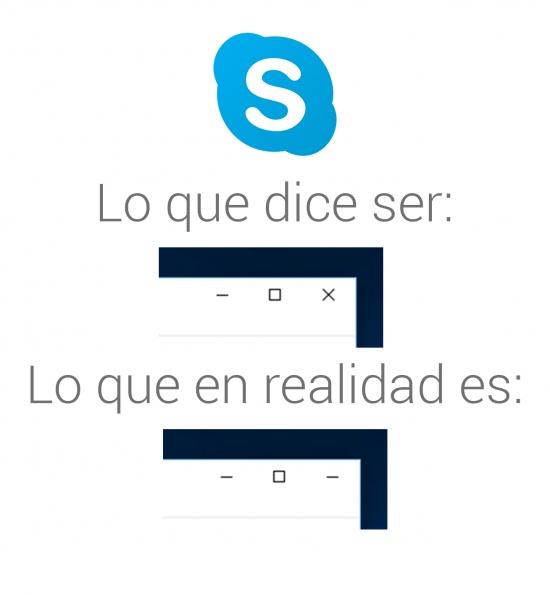 Otros - Querido Skype, así no se usan las X