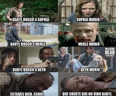 Meme_otros - Daryl como que es el que trae mala suerte