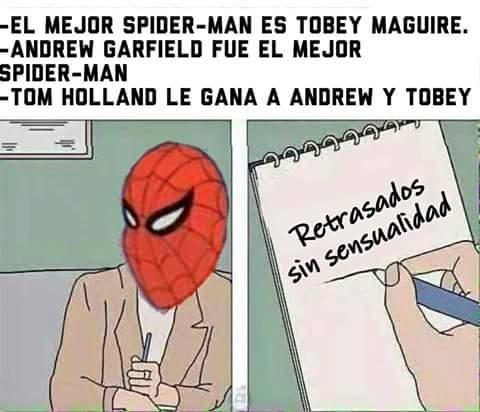 Meme_otros - ¿Cuál fue el mejor Spiderman?