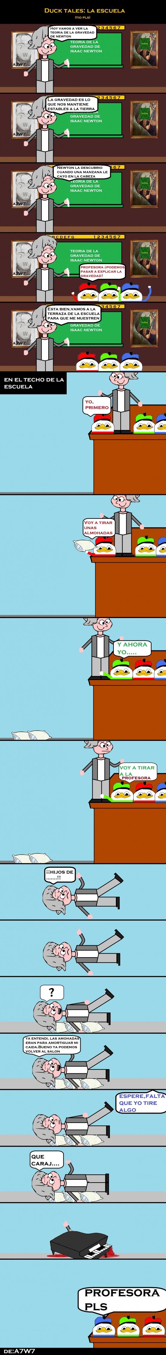 Dolan - Duck tales: La escuela y la explicación de la gravedad :(