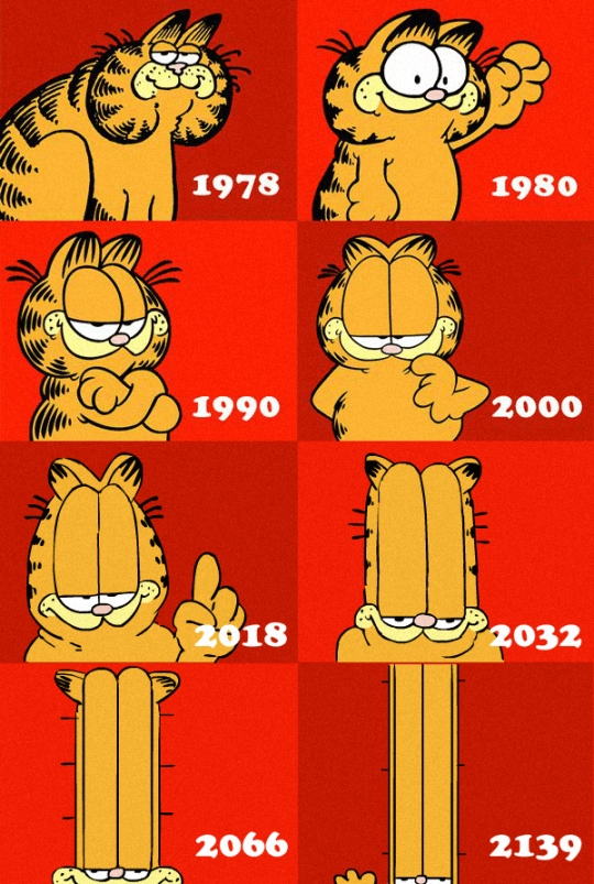 Meme_otros - La evolución de Garfield