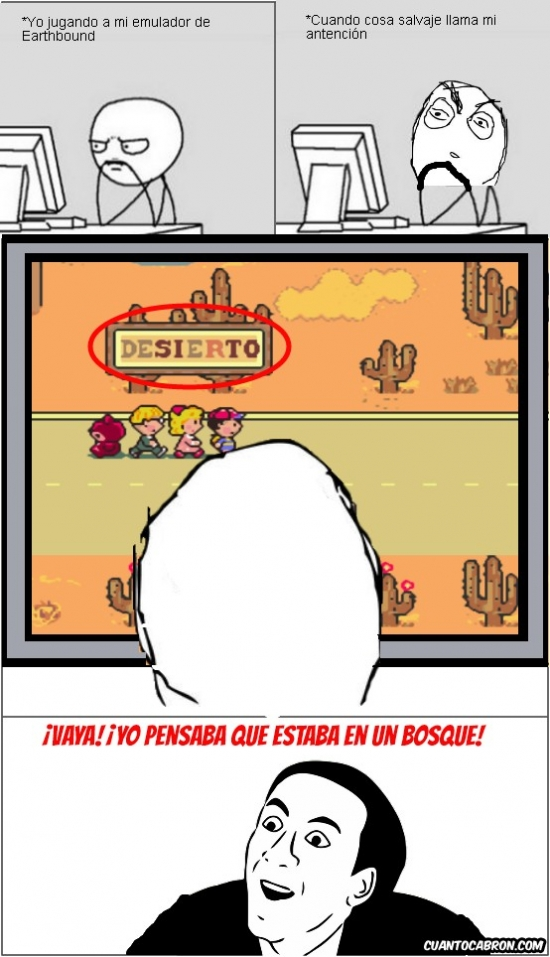 desierto,Earthbound,emulador,lo tengo en emulador porque no tengo dinero ni para la consola ni para el juego,Mother,Ness,No me digas