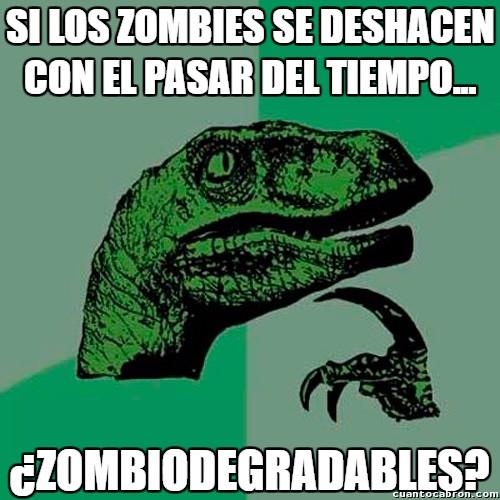 Philosoraptor - Una curiosidad sobre los zombies