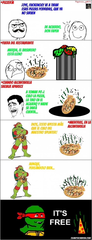 Its_free - Pizza gratis para Rafael, la legendaria Tortuga Ninja