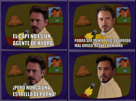 Meme_otros - Declaraciones de Tony acerca del Capitán América