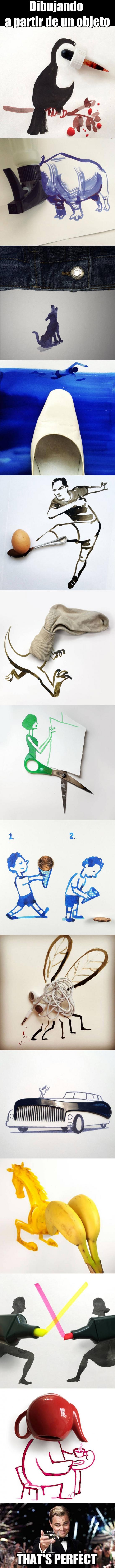 Meme_otros - Este artista dibuja a partir de objetos cotidianos que todos usamos